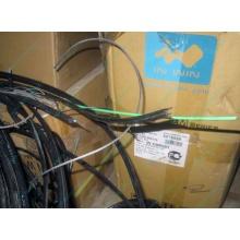 Оптический кабель Б/У для внешней прокладки (с металлическим тросом) в Дмитрове, оптокабель БУ (Дмитров)