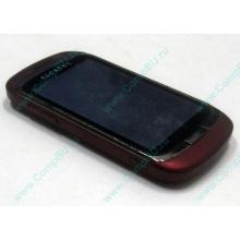 Красно-розовый телефон Alcatel One Touch 818 (Дмитров)